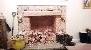 rebuilding fireplace installing ventless insert install mantel over brick chimney damper cost
