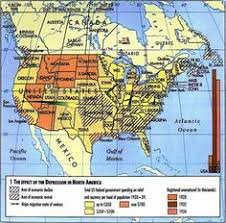 the great depression and american politics great depression  research paper on the great depression map of what happened in certain parts of north america durring the
