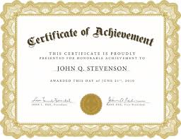 Sample Certificate Of Achievement Formal Award Template Or Certificate Of Achievement Award Example 8