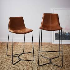 top 33 blue ribbon media nl leather bar stools slope counter west elm au white stool with backs short real kitchen back breakfast chairs blue inch