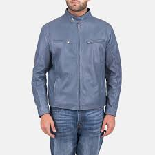 ionic blue leather jacket