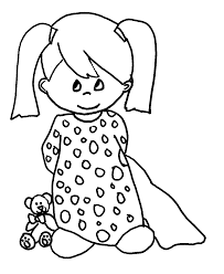 Small Picture coloring pages of sad girl for kids to color in Coloring Point