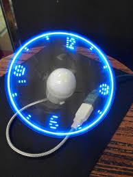 lighting gadgets. blue new durable adjustable usb gadget mini flexible led light fan time clock desktop lighting gadgets x