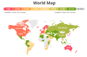 cost of living around the world in 2020