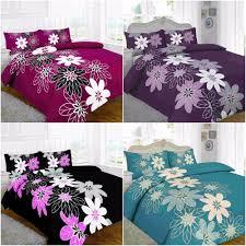 lynda fl black lilac red duvet quilt cover bedding set with pillowcase