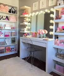 awesome makeup vanity for girl s bedroom