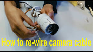 how to re wire a broken hikvision camera cable rj45