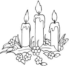 Small Picture Candles with Flowers coloring page Free Printable Coloring Pages