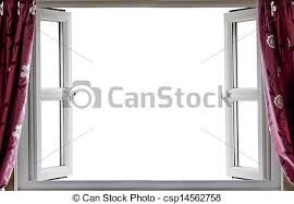 open window with curtains.  Curtains Open Window White Background  Csp14562758 Intended Window With Curtains A
