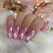 For Fabu Lo Chrome From Oceannailsupply Nehty Nails Hot Pink Coffin