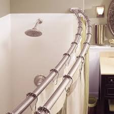 kohler shower curtain rod new inspiring curtains moen straight installation on for 24