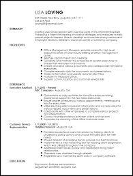 Assistant Resume Executive Assistant Resume Templates Free Creative Executive
