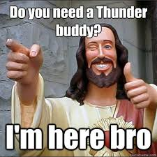JESUS SAYS HAPPY BIRTHDAY amigo! - Buddy Christ - quickmeme via Relatably.com