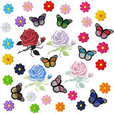 YYaaloa 36pcs Colorful Butterfly Flower Patch Iron On ... - Amazon.com