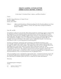 Amazing Cover Letter Sample For Report Submission 19 For Sample