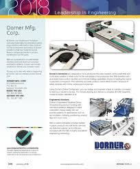 Dorner Conveyor Design Design World January 2018 Leadership Pages By Wtwh Media Llc