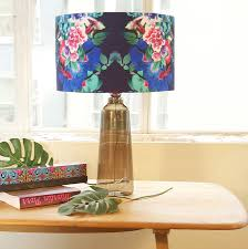 lamp shades design  designer lamp shades blue and hot pink floral