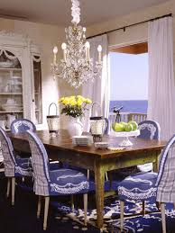 blue dining room furniture. inspiration for a timeless dining room remodel in los angeles with white walls blue furniture