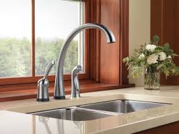 Delta Pilar Kitchen Faucet Faucetcom 4380t Ar Dst In Arctic Stainless By Delta
