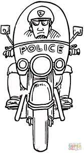 Small Picture Motorcycle Policeman coloring page Free Printable Coloring Pages