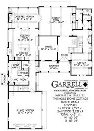 Moss Stone Cottage House Plan   House Plans by Garrell Associates        moss stone cottage house plan   st floor plan