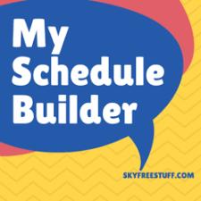free schedule builder schedule maker template archives sky free stuff blog digital