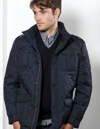 Mens Quilted Jacket (3074). Navy blue colour & Vedoneire of Ireland (Mens Navy Quilted Jacket - style 3074) Adamdwight.com
