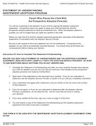 Adoption Birth Plan Template Form Ad 926 Download Printable Pdf Statement Of