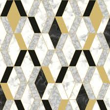 Details About Muriva Geometric Marble ...
