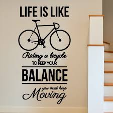 MOTIVATIONAL Bike Inspirational Moving Wall Art Sticker Decal Home DIY  Decoration Decor Wall Mural Removable Room