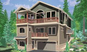 house plans with a view. 10141 House Plans, Plans For Sloping Lots, 3 Level Three With A View N