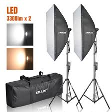emart photography softbox lighting kit photo equipment studio softbox 20 x 45w