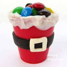 Edible Santa Suit Candy Cups Make Cute Party Favors For Christmas Edible Christmas Craft Ideas