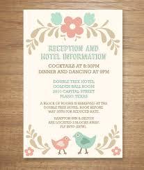 wedding reception card folksy love birds enclosure card download print