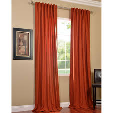rust colored curtains photo 1