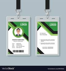Green Card Office Simple Corporate Office Identity Card Design