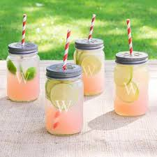 Get Quotations  Personalized Mason Jars with Lids and Decorative Straws R
