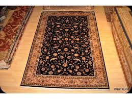 6 x9 persian rug black background fine quality woven rug