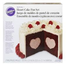 Tasty Fill Heart Cake Pan Set 2 Piece Heart Shaped Filling Cake Pan Set
