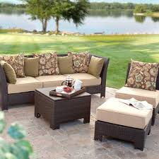 Patio appealing wicker patio furniture sets clearance brown