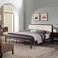 Mia Bedroom Furniture Modway Mia King Fabric Bed Frame Multiple Colors Walmartcom