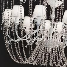 white high end italian crystal chandelier