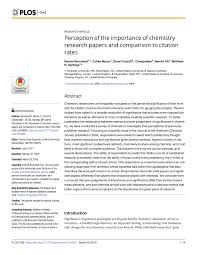Pdf Perception Of The Importance Of Chemistry Research Papers And