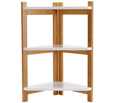 Collection 3 Tier Bamboo Corner Shelf Unit - Two Tone