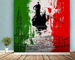 italian flag abstract mural wallpaper room setting on italian wall art uk with italian flag abstract wallpaper wall mural wallsauce uk