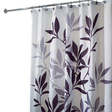 black and gray shower curtain. interdesign leaves shower curtain in black and gray i