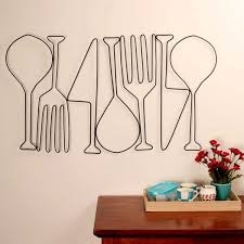 kitchen metal wall art food for thought dining room decor