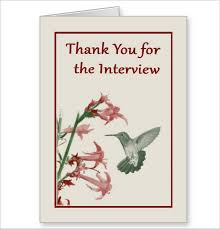 Interview Thank You Card Sample 8 Interview Thank You Cards Free Printable Psd Eps