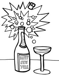 Small Picture A Bottle of Campagne for 2015 New Year Coloring Page NetArt