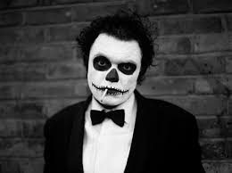 skull makeup for man